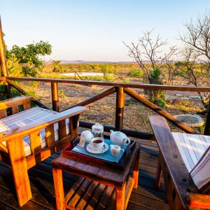 Jamila Lodge Private Deck with Views of the Watering hole