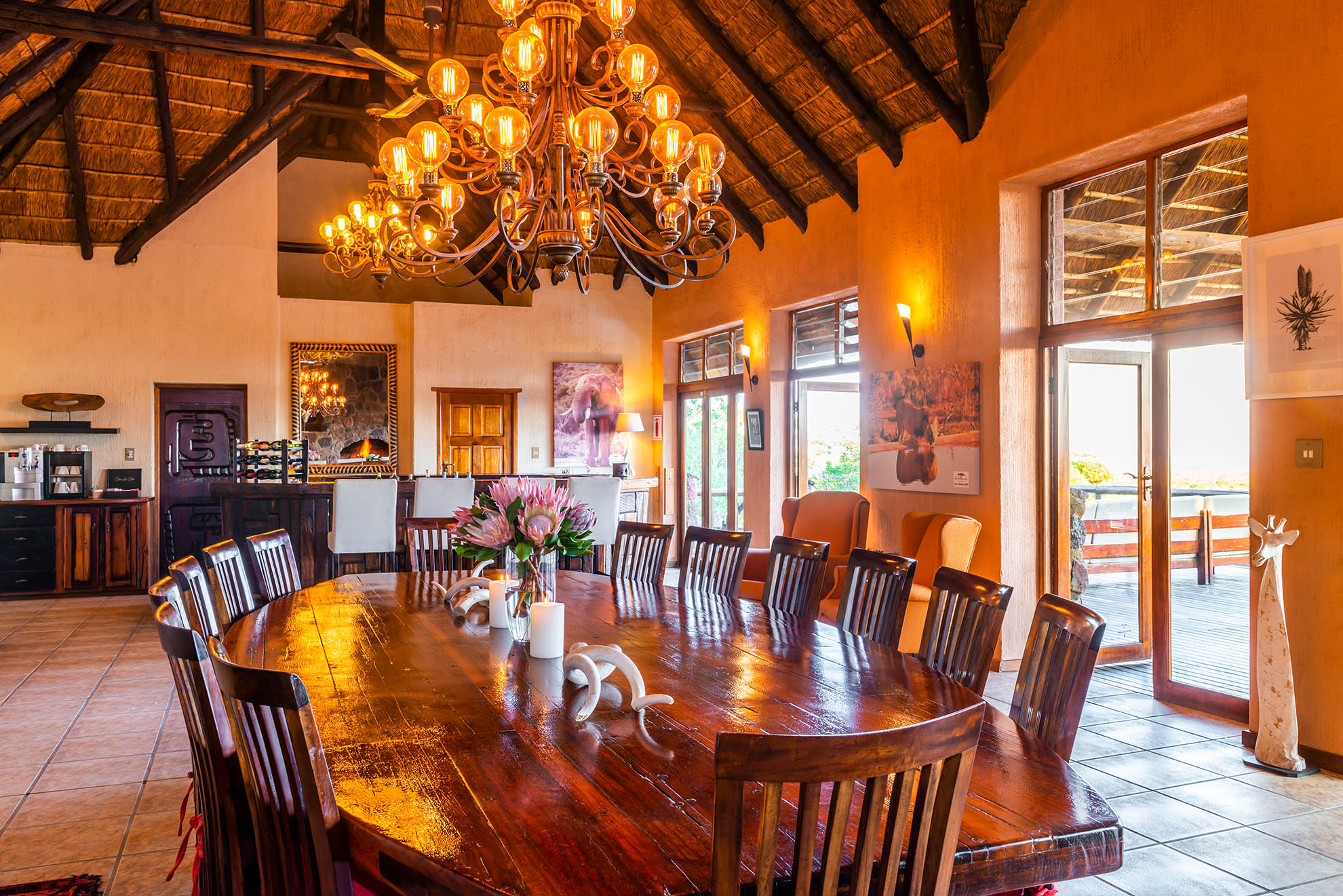 Jamila Lodge Dining Area