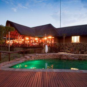 Jamila Lodge Pool at Night