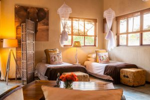 Jamila Lodge Elephant Room Twin beds for children