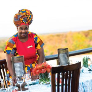 Jamila Lodge Lunch Service with a Smile