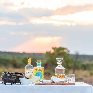 Jamila Lodge Sunset Game Drive Snacks and Drinks