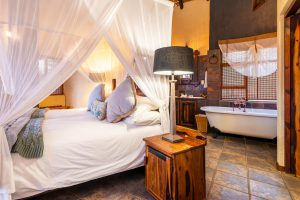 Jamila Lodge Rhino Room with en-suite bathroom