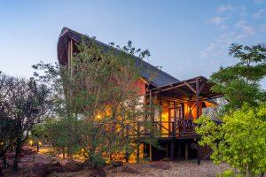 Jamila Lodge Room at dusk