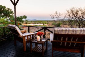 Jamila Lodge View of the waterhole from private deck