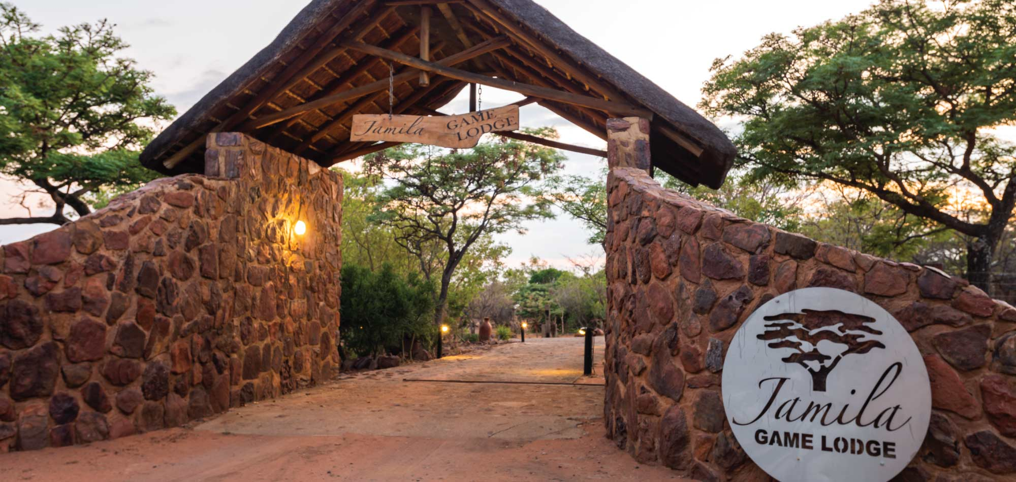 Jamila Lodge - Home Banner Entrance