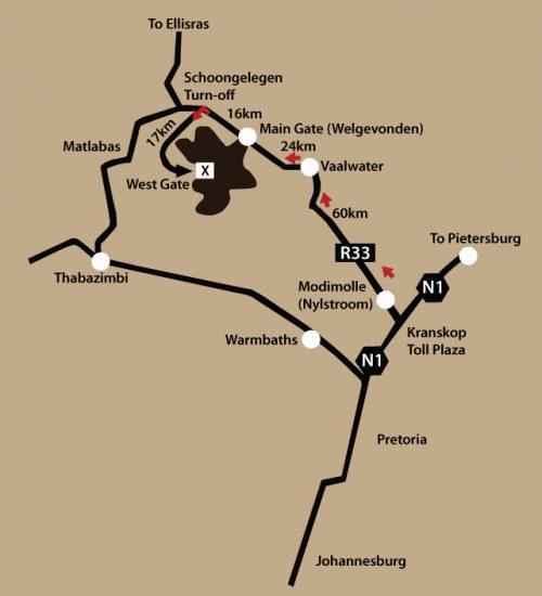 Jamila Lodge - Directions Map