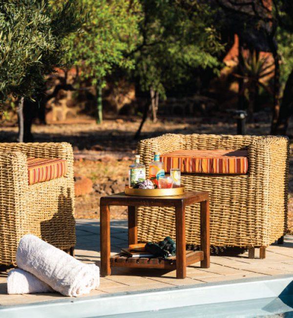 Jamila Lodge Poolside efreshments